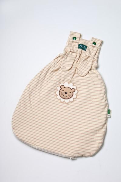 Lotties Gestreifter Bambini Schlafsack mit Leo Stickerei mit 55 cm