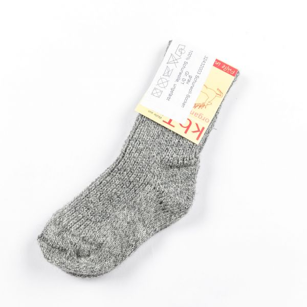 BIO Socken Grau aus Schurwolle