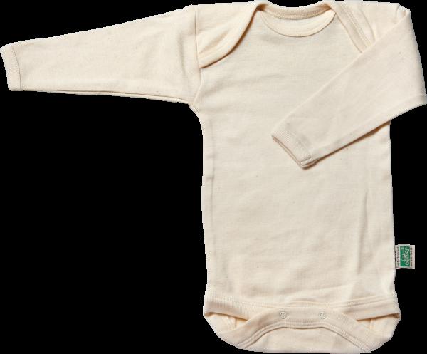 Lotties Naturbelassener langarm Body aus reiner Bio Baumwolle