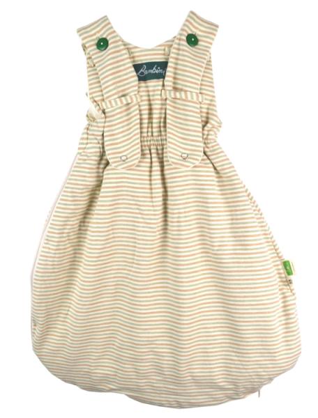 Bunter Bambini Schlafsack Interlock Ringel aus Bio Baumwolle