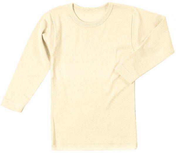 Naturbelassenes Basic langarm Shirt aus reiner Bio Baumwolle