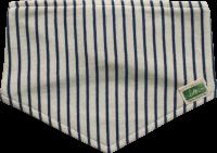 blau|natur gestreiftes Halstuch mit Klettverschluss aus Bio Baumwolle - bei Lotties Naturtextilien bestellen