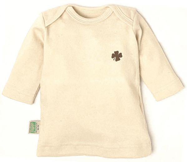 Lotties Natur langarm Shirt mit Kleeblatt