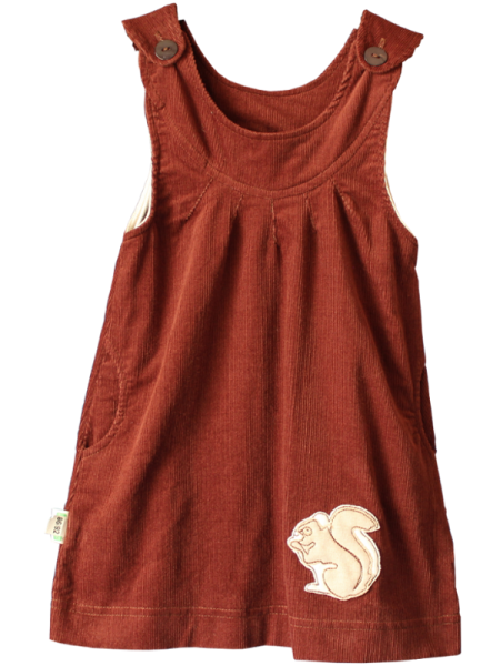 BIO Kleid Cord Eichhörnchen - bei Lotties Naturtextilien