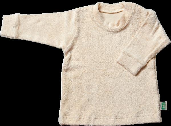 Natur Shirt langarm aus Bio Frottee